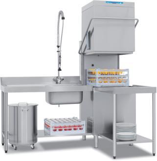 Gisi HC382L TDE Haubenspülmaschine (400x600)mit integriertem Enthärter